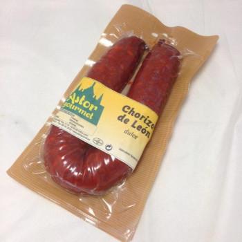 Chorizo de León dulce Astorgourmet 450 grs aprox.