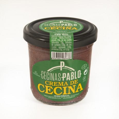 Tarro cristal crema de cecina de vaca Cecinas Pablo