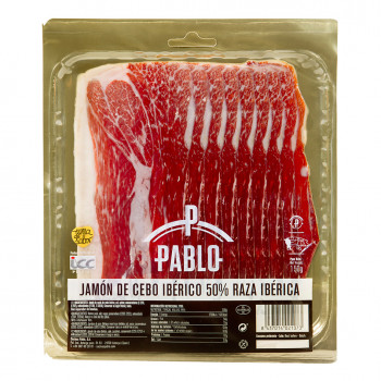 Iberian ham Sliced package 100gr/Ut