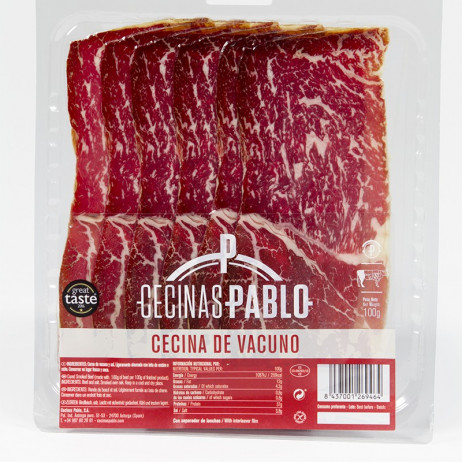 "Cured beef ""Cecina"" Sliced -100 GRS.- UT"
